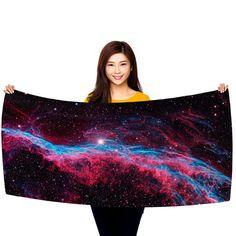 "The Veil Nebula, NGC 6960, 30"" x 60"" Microfiber Beach Towel"