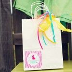 Easter Bunny Chevron Party Favor Bag Idea