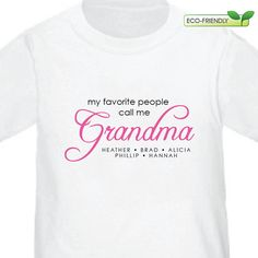 Grandma Shirt O My Favorite People Call Me TShirt Christmas Gift Birthday Mothers Day