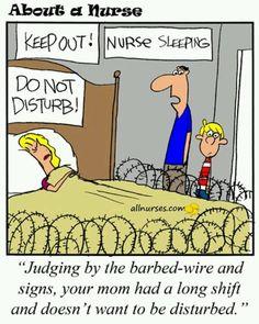 Night shift nurses & their families truly understand!   soooooo sad and true!