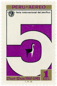 Peru postage stamp: vicuña 1967