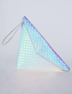 Hologram triangle clutch