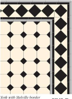 more victorian tile patterns from your UK victorian floor tile specialist; we are based in Kent but we can shipp these unique encaustic floor tile patterns direct to you. Floor Design, Tile Design, Bathroom Floor Tiles, Tile Floor, Victorian House Interiors, Tiled Hallway, Victorian Tiles, Traditional Tile, Black And White Tiles