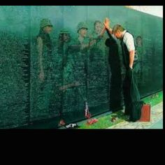 The soldiers in the stone have always moved me when I see this picture