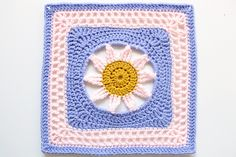 "Ravelry: Blooming Lace - 12"" Square pattern by Melinda Miller  Free square pattern, Ravelry"