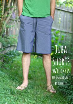sew: how to add pockets to simple shorts pattern with free pocket pattern || imagine gnats