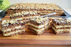 Pot să vă spun că prăjitura cu foi fragede cu nucă, este una dintre cele mai bune prăjituri preparate de mine, din categoria celor cu foi coapte pe dosul tăvii. Cu toate că mi-au dat ceva de furcă foile cu nucă în compoziție, pentru […] Sweets Recipes, No Bake Desserts, Healthy Desserts, Just Desserts, Cookie Recipes, Romanian Desserts, Romanian Food, Homemade Sweets, Sweets Cake
