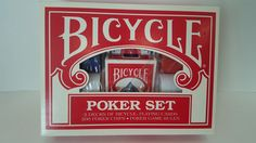 BicyclePoker Chip Set 200Chips 2 Decks Playing Cards Poker Game Rules