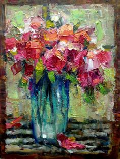 Flowers and Seeing Their Shapes original fine art by Julie Ford Oliver