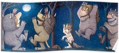 Where the Wild Things Are Wild Rumpus at night Poster