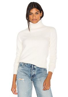 Endless Rose Wide Turtleneck Sweater in Off White | REVOLVE