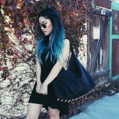 68 ideas hair blue black hair color - All For Hair Color Trending Dye My Hair, New Hair, Ombre Hair Color, Blue Ombre, Hair Colors, Navy Blue Hair, Purple Hair, Coloured Hair, Pastel Hair