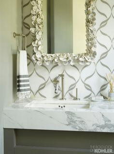 Home Ideas from KOHLER..love wall, mirror..absolutely everything. Must be his!!