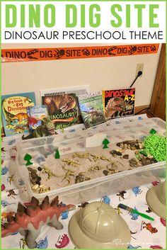 Dinosaur Dig Site Dramatic Play-Dinosaur Preschool Activities Dinosaur Classroom, Dinosaur Theme Preschool, Dinosaur Play, Preschool Themes, Dinosaur Preschool Activities, Ks1 Classroom, Stem Preschool, Activities For Kids, Dramatic Play Themes