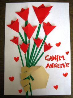 Anneler Günü Buketi | MiniMiniyiz Origami, Creative Activities, Art Activities, Flower Crafts, Diy Paper, Easter Crafts, Diy And Crafts, Preschool, Projects To Try
