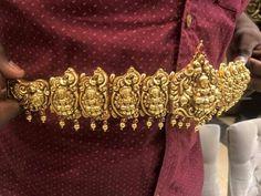 Vaddanam Antic Jewellery, Temple Jewellery, Vaddanam Designs, Gold Jewelry, Jewelry Necklaces, Neck Piece, Indian Jewelry, Jewelry Design, Bangles