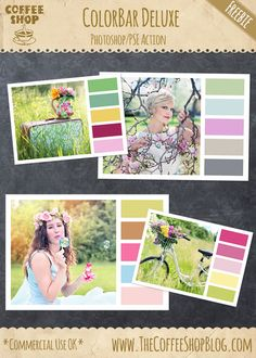 """AWESOME**** Photoshop Action (FREE) Use to Create your own """"design seeds - style"""" color story boards, FROM ANY PHOTO!!! The CoffeeShop Blog: Tutorial-Photoshop and PSE"""