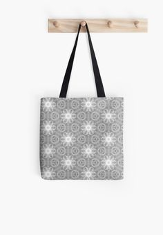 Black and white flowers pattern by Silvia Ganora  #bags #totebags#apparel#redbubble#floral
