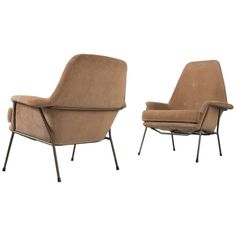 Set of Two Easy Chairs in Light Brown Upholstery for Gelderland 1