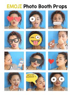 Use these cute Emoji Photo Props so your guests can have fun taking pictures at your party. You may print as many as you need, just add a wooden stick.  This PDF file includes: 2 Eyes 2 Tear Drops 2 Hearts 1 Lets Get Emotional Sign 1 Sunglass 1 Eyeglass 1 Poop Emoji 1 Cellphone 2 Large Emoji Faces 3 Small Emoji Faces Instruction Sheet (Wooden Sticks are not included)  ++++++++++++++++++++++++++++++++++++++++++++++++++++++++++++++++++  Also available Emoji Favor Bag Digital Download…