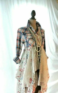 fall jacket bohemian duster boho fall dress by TrueRebelClothing - Fall Shirts - Ideas of Fall Shirts - fall jacket bohemian duster boho fall dress by TrueRebelClothing Diy Clothing, Sewing Clothes, Clothing Patterns, Shabby Chic Clothing, Look Fashion, Diy Fashion, Abaya Mode, Mode Hippie, Refashioned Clothes