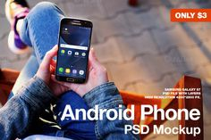 Android Phone Galaxy S7 PSD Mockup by JÉSHOOTS.com on @creativemarket