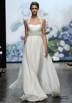 Monique Lhuillier Bejeweled Wedding Dresses Fall 2012