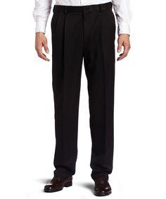 Haggar Men's Cool 18 Hidden Expandable-Waist Pleat-Front Pant Regular x Mens Fashion Magazine, New Mens Fashion, Fashion Wear, Mens Dress Pants, Pants Outfit, Men Dress, Men Pants, Dress Shirts, Military Pants
