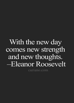 With the new day....
