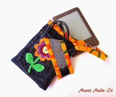 E-Reader-Case aus alter Jeans / Upcycling