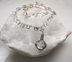 Bewitching Crystal Art Deco Necklace Open Back by Topcatvintage, $225.00