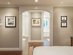 BM Thunder - best paint colors for south facing room.  A shade darker than Revere Pewter