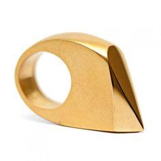Gold Geometric Cocktail Ring by De Anna Kiernan Jewellery [UK] at Boticca.  #winboticca