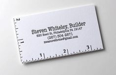 40 Brilliant Business card design examples for your inspiration Examples Of Business Cards, Unique Business Cards, Professional Business Cards, Business Card Design, Creative Business, Business Card Maker, Minimalist Business Cards, Architecture Business Cards, Construction Business Cards