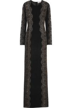 Stella McCartneyFlorence lace-paneled stretch-crepe gown