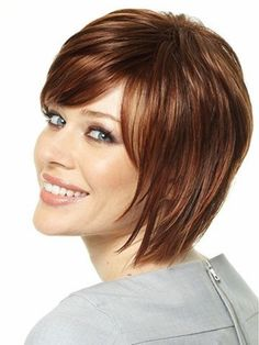Brown Short Hairstyles for Oval Faces-2