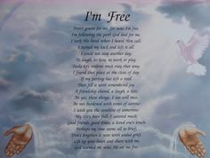 Image detail for -PERSONALIZED MEMORIAL POEM DON'T GRIEVE FOR ME I'M FREE |