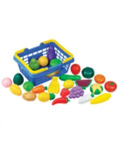 Buzzing Brains Fruit & Veg Basket adds some fun to pretend meal times. Kids will love playing house with this realistic play-food set, and it is an excellent choice for both the classroom and at home.