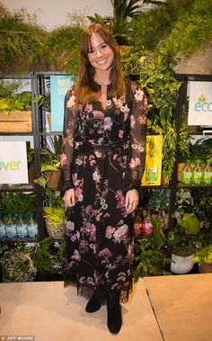 Stepping out: The brunette beauty was joined by another posh TV personality, Love Island's. The Brunette, Brunette Beauty, Camilla Thurlow, Lucy Watson, Love Island, Night Out, Eco Friendly, Product Launch, Chic