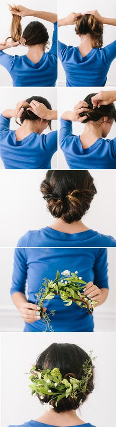 The Floral Twist! 3 beautiful hairstyles you can #DIY. #prom #wedding