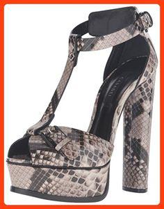 c9be5e7697607 Casadei Women s Printed Python Patent Platform Dress Sandal