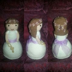 Muñeca comunion amigurumi personalizada