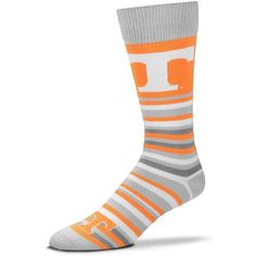 For Bare Feet University of Tennessee Lotta Stripe Thin Knee High Dress Socks (Orange Light, Size One Size) - NCAA Licensed Product, NCAA Novelty a...