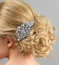 White/Ivory Pearl Wedding Hair Comb Tiara by Voguejewelry4u, $19.99
