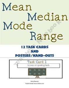 76 best math mean median mode range images classroom ideas