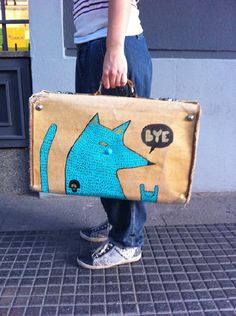 personalize your luggage with some creativity and paint