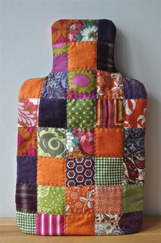 Hand-Made Patchwork Hot Water Bottle Cover. £20.00, via Etsy.