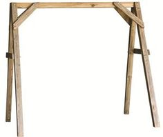 Easy DIY just from looking at:  A-Frame wooden Swing Stand