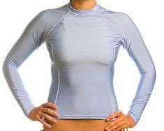 dc5769a051 canoeing - Womens SPF 50+ Carolina Blue Long Sleeve Rash Guard Large. For  additional. Swim Shirts ...