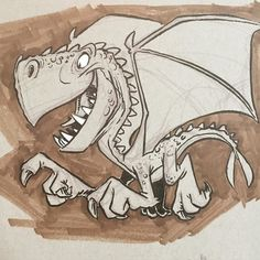regram @ericscales13 #dragon #cartoon #characterdesign #characterdesigner #animation #illustration
